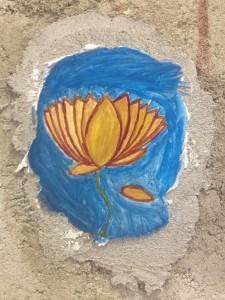Gwen's first fresco